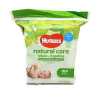 Huggies Natural Care Baby Wipes, Refill Pack, 184 Sheets Total, Fragrance Free, - $14.84