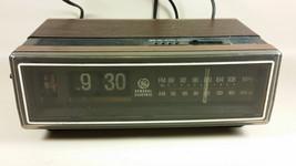 Vintage GE flip clock radio model 7-4305D for parts repair time not working - $24.99