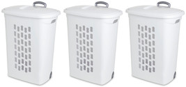 Sterilite Laundry Hampers with Lift-Top, Wheels, & Pull Handle (3-Pack) ... - $63.19