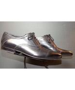 Men's Pal Zileri Italy Black Leather Edgy Brogue Oxford Sz 42.5/9.5 MINTY!! - $103.57