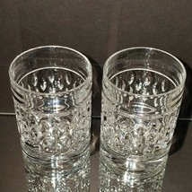 2 (Two) RALPH LAUREN ASTON Cut Lead Crystal DBL Old Fashioned Glasses-Signed image 2