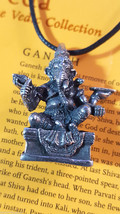 Indian Hindu God Ganesh Ganesha Protector God Of Journeys Cord Necklace ... - $10.77
