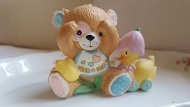 "Collectible By © Enesco 1984 PEEK A BEAR FIGURINE pre-owned vintage 3"" cuteness! - $18.55"