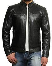 Mens Fashion Black Leather Jacket, Men Biker Leather Jacket, Jacket For Men - $159.99