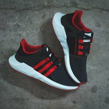 "adidas Originals EQT Support 93/17 ""YUANXIAO"" Carbon/Scarlet/Core-Black DB2571 - $210.02"