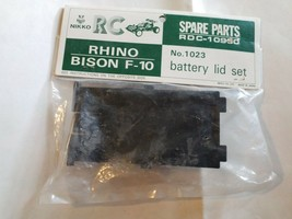 Nikko RC No. 1023 Rhino Bison F-10 Battery Lid Set Vintage NOS - $24.74