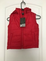 QUAD SEVEN Boys Hooded Vest Sz 4 Red Jacket OuterWear - $56.43