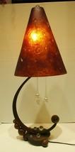 Rare Signed Carlos De Anda Hand Wrought Iron Table Lamp Mexico circa 1970s - $2,470.05