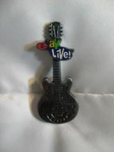 2007 Hard Rock Cafe Boston E Bay Live Pin Silver Guitar Mint - $18.52