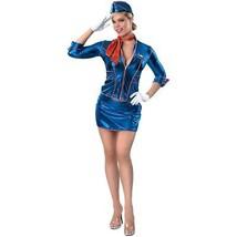 Stewardess Adult Costume, Small 6-10 - £23.27 GBP