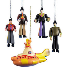 KURT S ADLER BEATLES™ YELLOW SUBMARINE ORNAMENT GIFT BOX - 5 PIECE SET O... - $29.88