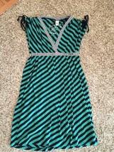 Element Live Learn Grow Girls Size Small Empire Waist Cap Sleeve Striped Dress - $13.84