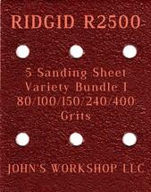 RIDGID R2500 - 80/100/150/240/400 Grits - 5 Sandpaper Variety Bundle I - $7.53