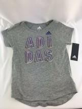 Adidas  Girls  Logo-Print 6x Gray Tshirt S - $12.99
