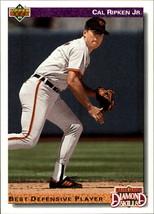 1992 Upper Deck #645 Diamond Series Cal Ripken - Baseball Card - $0.80