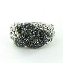 John Hardy Classic Chain Lava Small Braided Black Sapphire Ring Sz 7 New... - $436.50