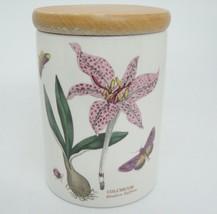 "Portmeirion Botanic Garden Medium 5"" Storage Jar Canister with Wood Lid Saffron - $14.84"