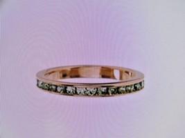 Swarovski® Peridot Crystal & Goldtone Channel Ring Size 5 New In Bag - $10.88