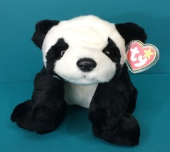 "Ty Beanie Buddies Peking Panda Teddy Bear 14"" Plush Stuffed Animal NWT T... - $12.95"