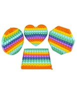 """4 pack -8"""" Rainbow Shaped Bubble Popper Pop It Toys poppers toys kids cake #495 - $33.24"""