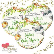 Woodland animals baby shower 2 inch thank you sticker listing thumb200