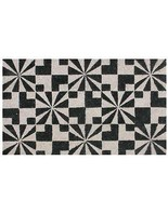 "Northlight Black and Pale Pink Abstract Coir Outdoor Door Mat 29.5"" x 17... - $18.50"