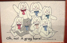 Whimsical Framed Small Print ~Oh, No! A Gray Hare! ~ - $7.49