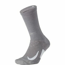 Nike Unisex Spark Cushion Crew Socks Gray/White Size 10-11.5 SX5460-036 - $17.99