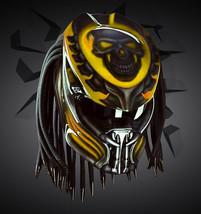 Predator Motorcycle Helmet Yellow Skull (Dot / Ece Certified) - $355.00