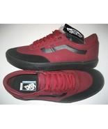 Vans Mens Gilbert Crockett Cabernet Black Canvas Suede Skate shoes size ... - $64.34