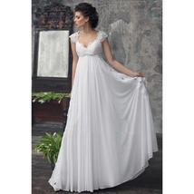 Designer Chiffon Wedding Dress High Waist Maternity Wedding Gown image 2