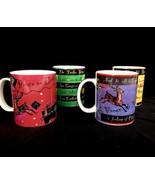 Four Starbucks Coffee Mugs Deborah Reinhart Days of Christmas Peace Bonn... - $27.96
