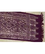 Old Balinese Metallic Gold Embroidery Brocade Wedding Songket Belt Burgu... - $189.99