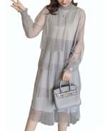 Maternity Dress Long Sleeve Fashionable Layered Dress - $37.99