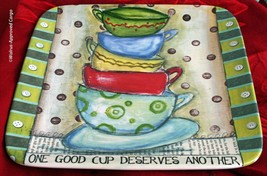 LISA KAUS JAVA TIME PLATTER –A MUST-HAVE FOR ANY COFFEE LOVER! - $39.95