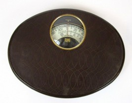 Vintage Borg Brown Bathroom Scale Mid Century Modern Atomic Retro Prop G... - $48.60