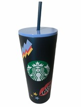 Starbucks Summer Graffiti Back To School Chill  Stainless 24oz Cold Cup New - $54.45
