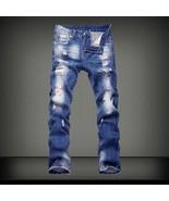 Men Jeans 2018 Mens Jeans Homme Pantalones Hombre Personality Zipper Dec... - $47.94