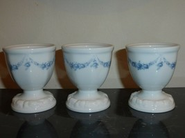 Rosenthal Classic Rose Collection Maria Blue Garland 3 Egg Cups - $45.00