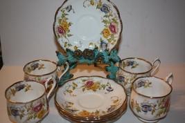 Vintage Royal Albert Bone China England Yellow, Pink and Blue Flowers - $86.20