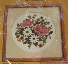 Vintage Creative Circle ROSES Classic Bouquet Needlepoint Stitchery Kit ... - $39.59