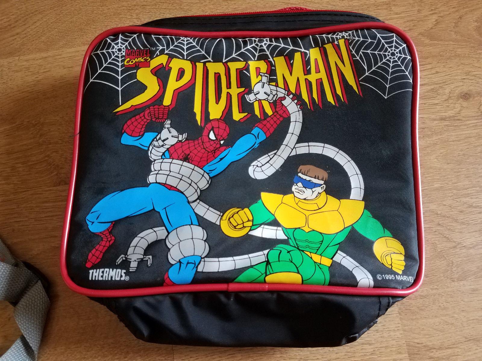 "1995 Marvel Spider-Man Vinyl Lunch Box Doc Oc 10x7"" - $11.99"