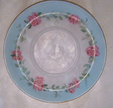 "Antique Rosenthal Bavaria ""Donatello"" hand painted roses 6"" porcelain saucer - $8.32"