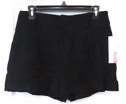 ELLE™ Pleated Black Cuffed Dress Shorts - Women's Size 6 NWT MSRP$44 VER... - $24.00