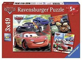 Ravensburger Disney Cars: Worldwide Racing Fun 3 x 49-Piece Jigsaw Puzzle for Ki - $10.79