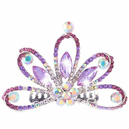Popular Plate Hair Comb Crystal Crown Bridal Headdress