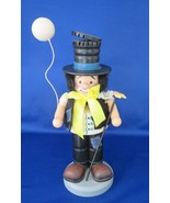 Hobo Clown Nutcracker 1997 by ZIMS with Balloon & Rake - $22.00