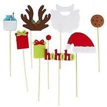 Christmas Holiday Party Photo Props BOXED Gift Santa Reindeer Beard NWT ... - $14.65