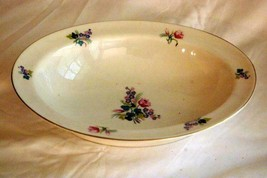 """Theodore Haviland Pink And Purple Floral Sprays Oval Vegetable Bowl  9 1/2"""" - $13.85"""