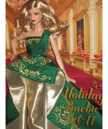 BARBIE HOLIDAY 2011 CHRISTMAS GREEN NRFB NEW - $32.78